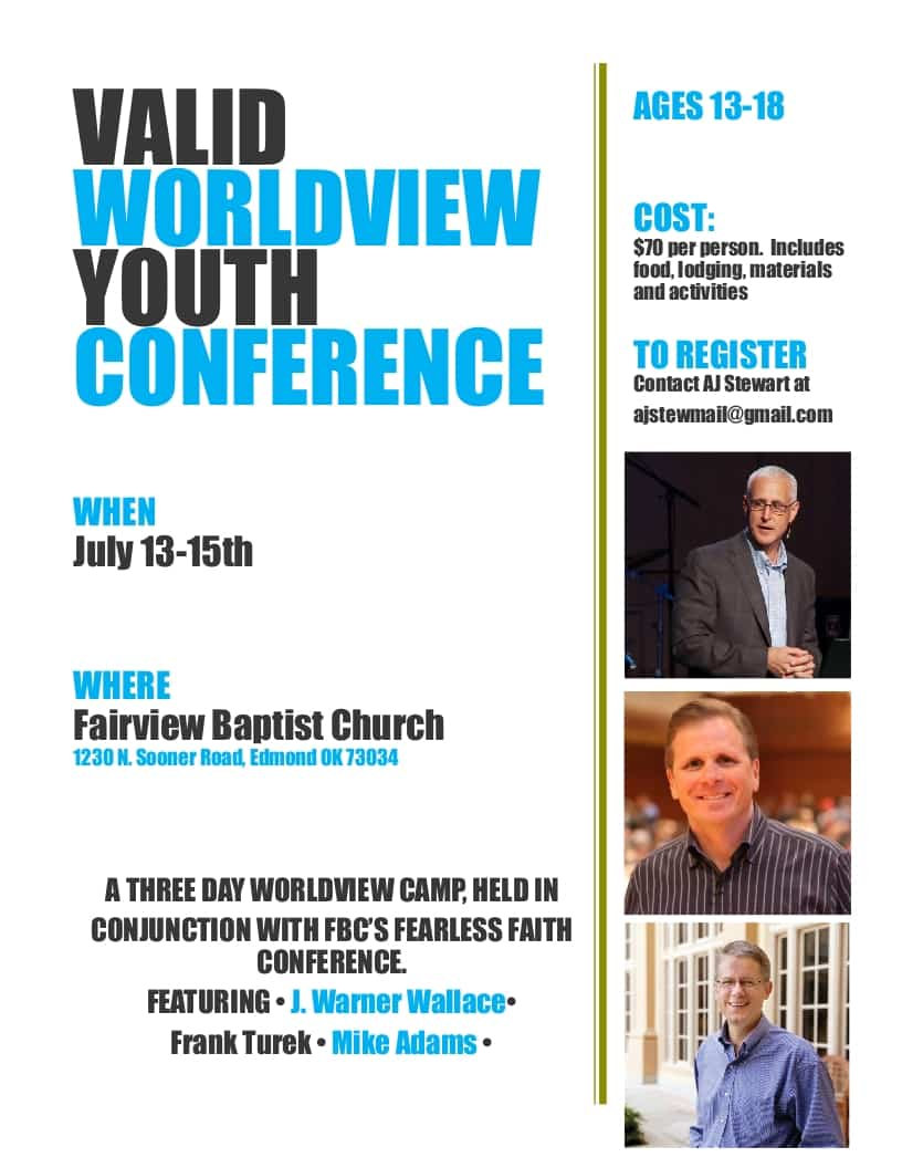 Click on this image for more information about the 2017 Valid WorldView Youth Conference